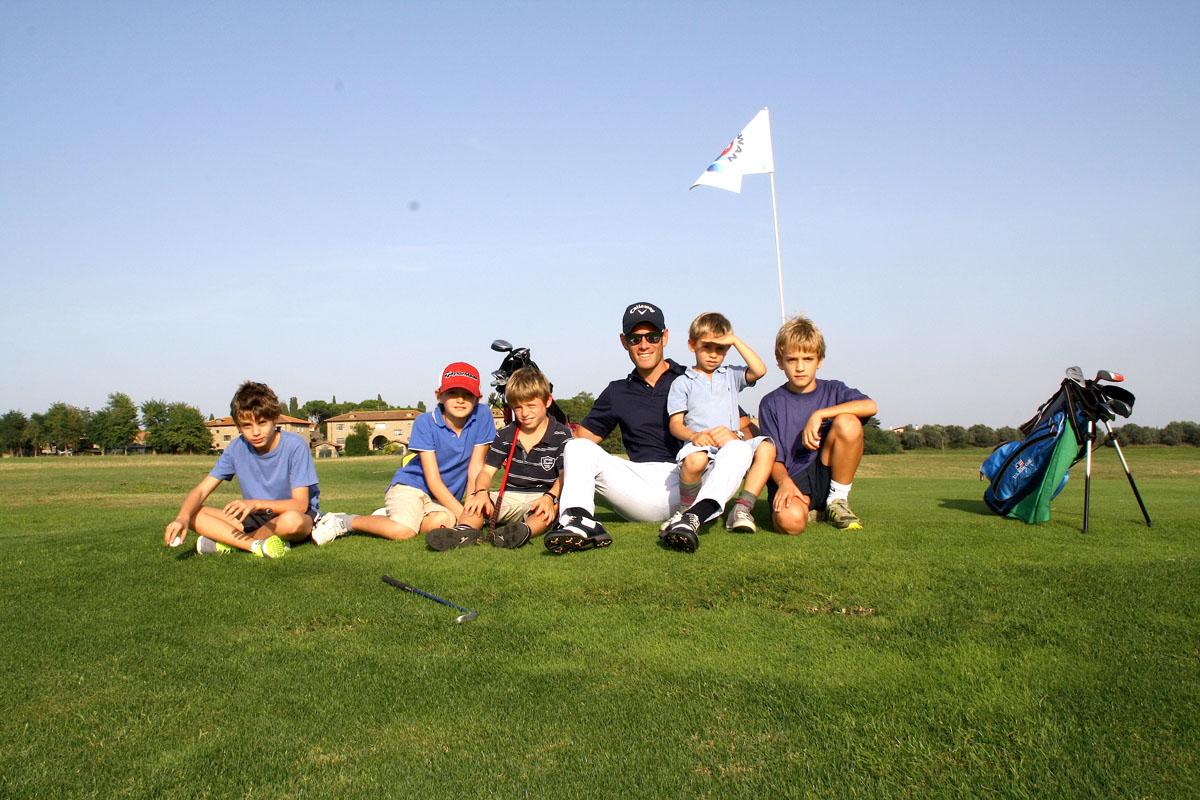 Bambini e il gioco del golf