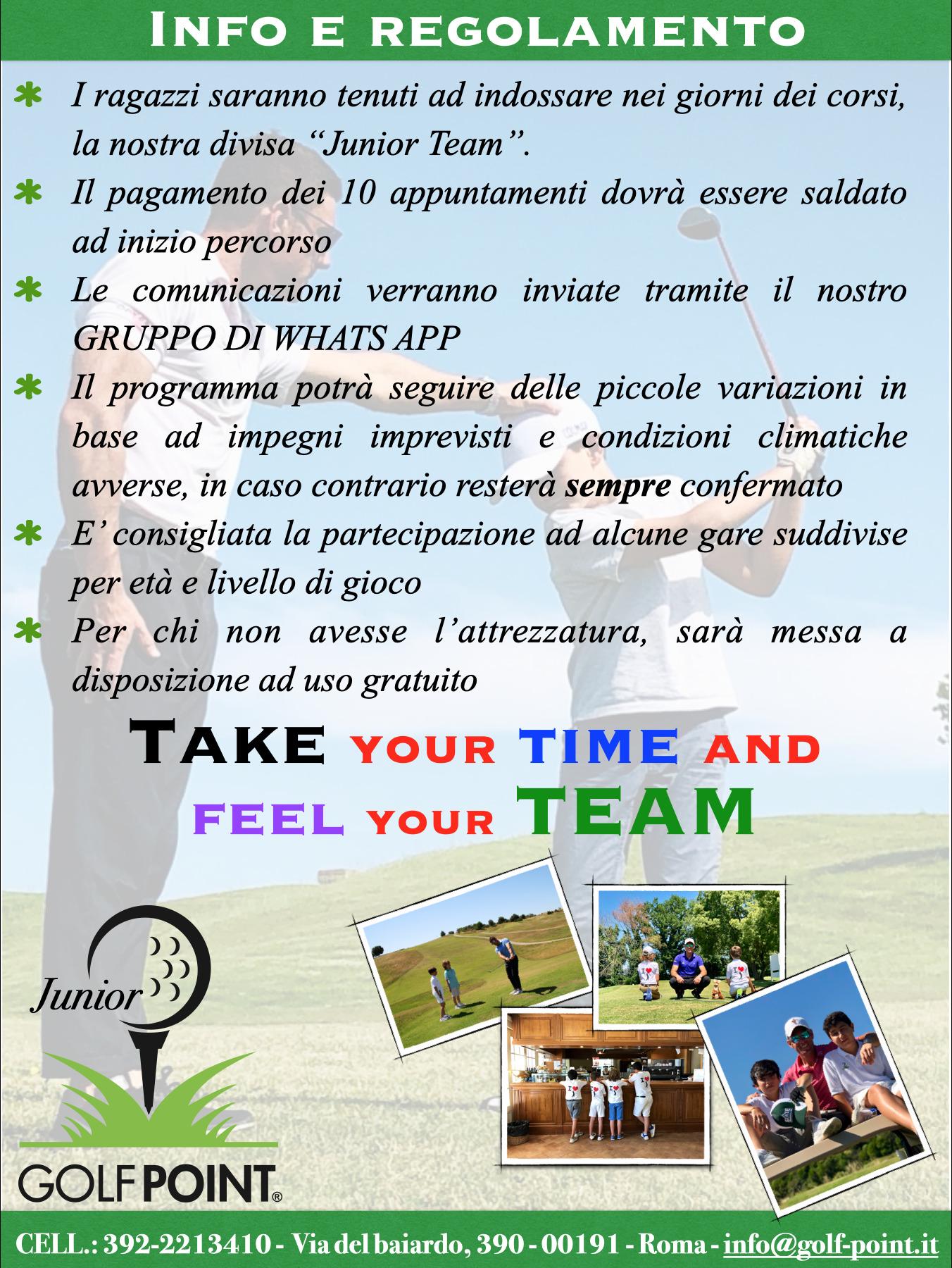CELL.: 392-2213410 -  Via del baiardo, 390 - 00191 - Roma - info@golf-point.it